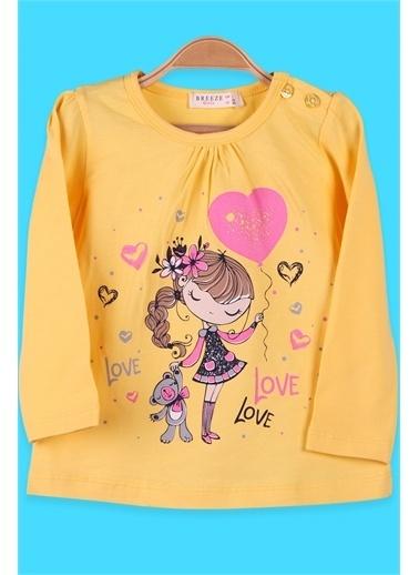 Breeze Kız Çocuk Uzun Kollu Tişört Balonlu Kız Baskılı Sarı (1.5-3 Yaş) Sarı